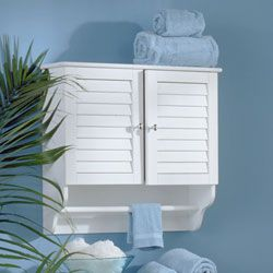 @Overstock - Update your bathroom decor with this wall-mount towel cabinet Cabinet features a traditional style and functional design Furniture boasts two doors with metal pulls to reveal storage spacehttp://www.overstock.com/Home-Garden/White-Nassau-Wall-mount-Towel-Cabinet/1892684/product.html?CID=214117 $73.79