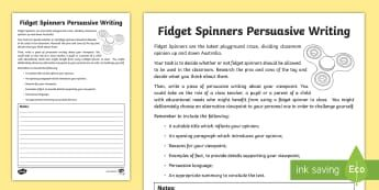 years 3 6 fidget spinners persuasive writing activity sheet australian curriculum english. Black Bedroom Furniture Sets. Home Design Ideas