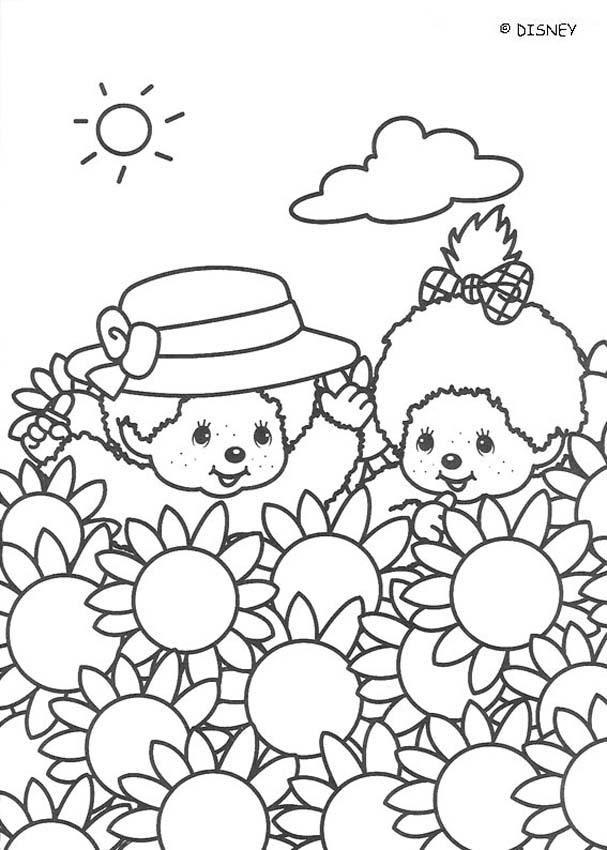Monchhichi und Sonnenblumen