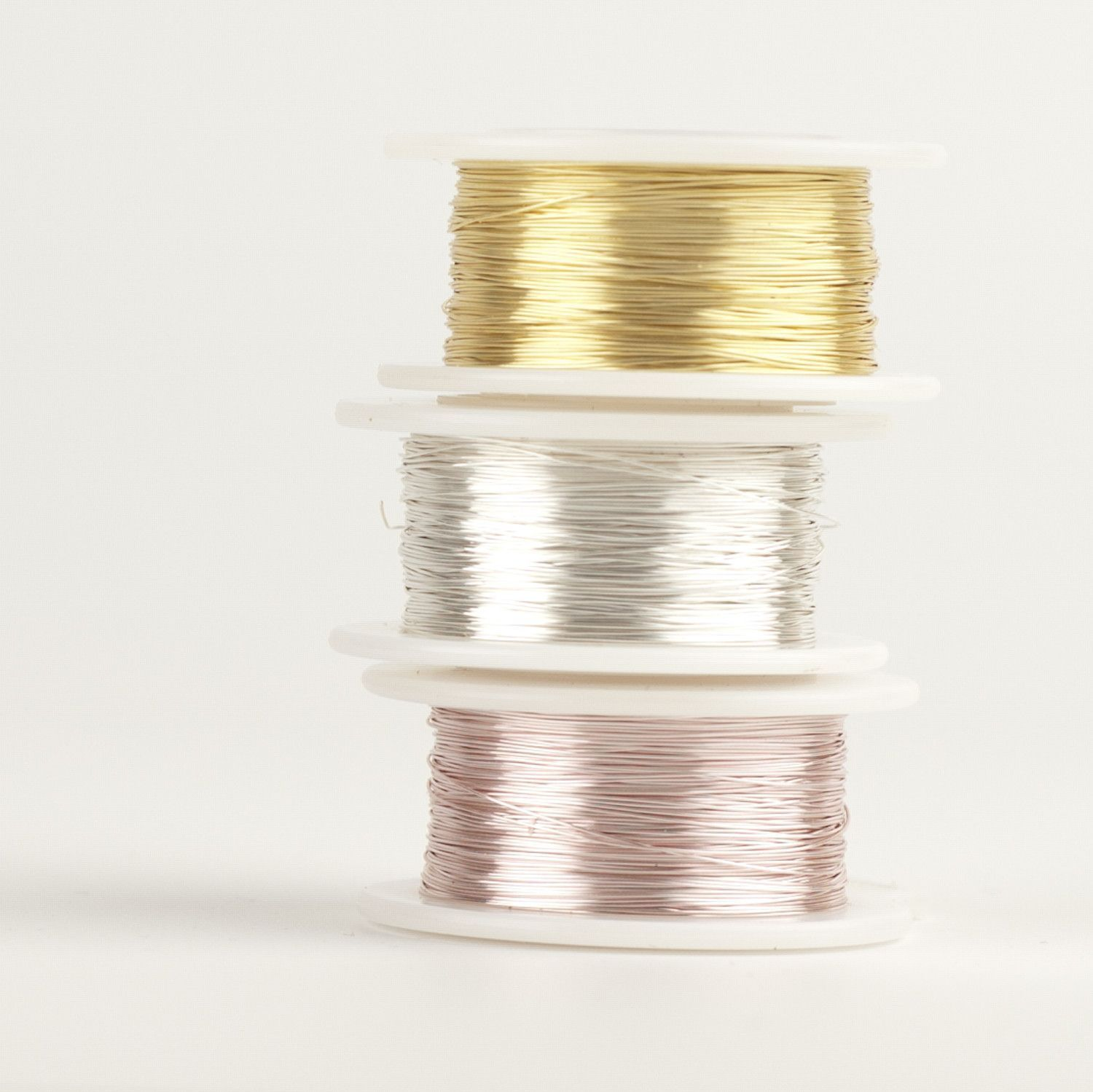 Craft Wire Gold Silver And Rose Gold 3 Extra Long