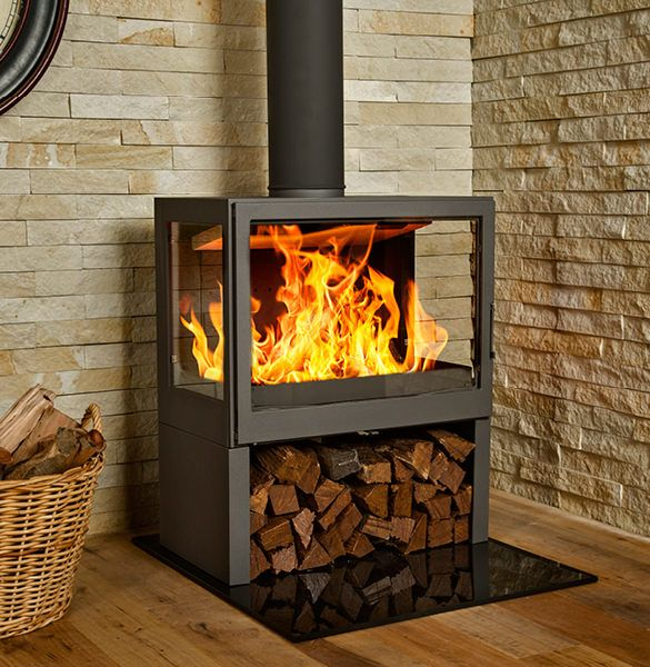 Bavorov Side Glass Wood Burner Fireplace Freestanding Fireplace Wood Stove Fireplace
