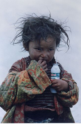 Precious child of Tibet. They smile most of the day though.