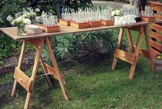 Cerimoniesido Rustic Wooden Trestle Table For Hire Possibly Use