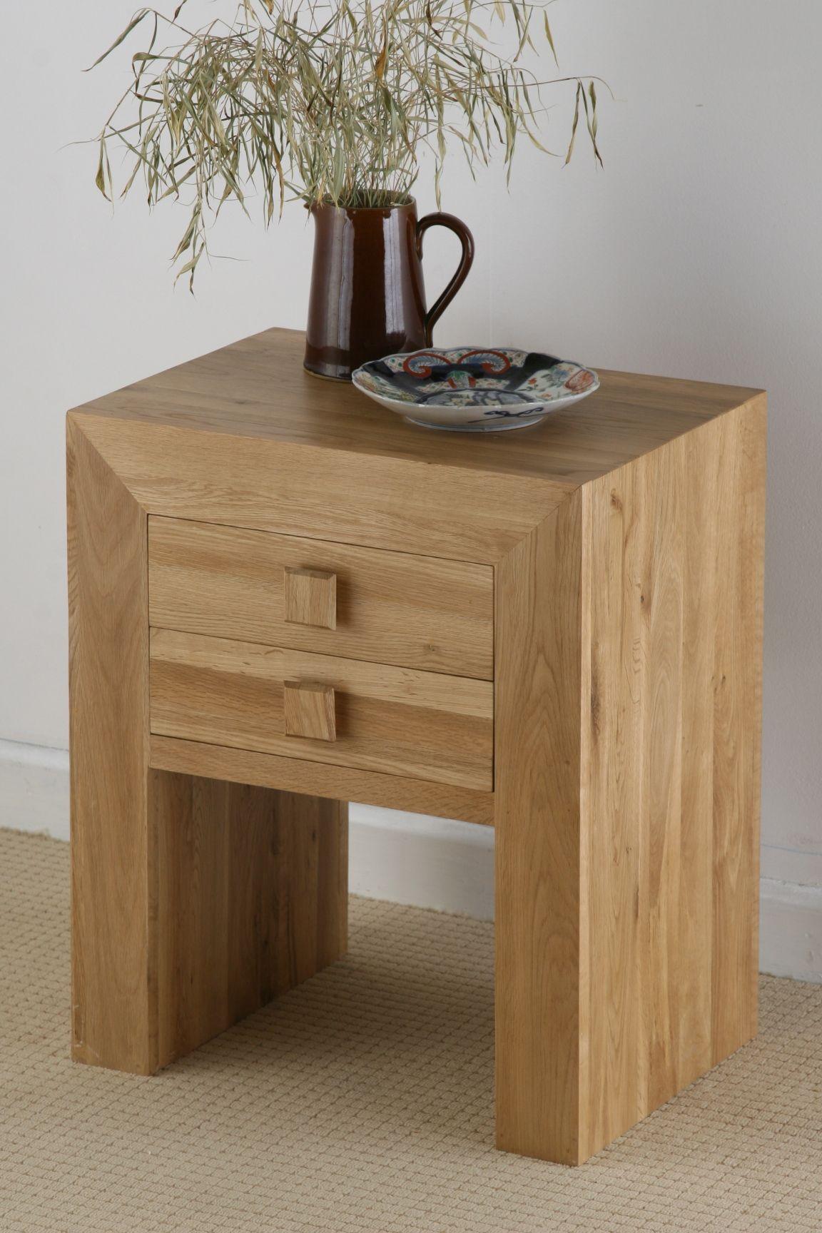 Oakdale Solid Oak Furniture Range Bedroom Oak Bedside Table Oak