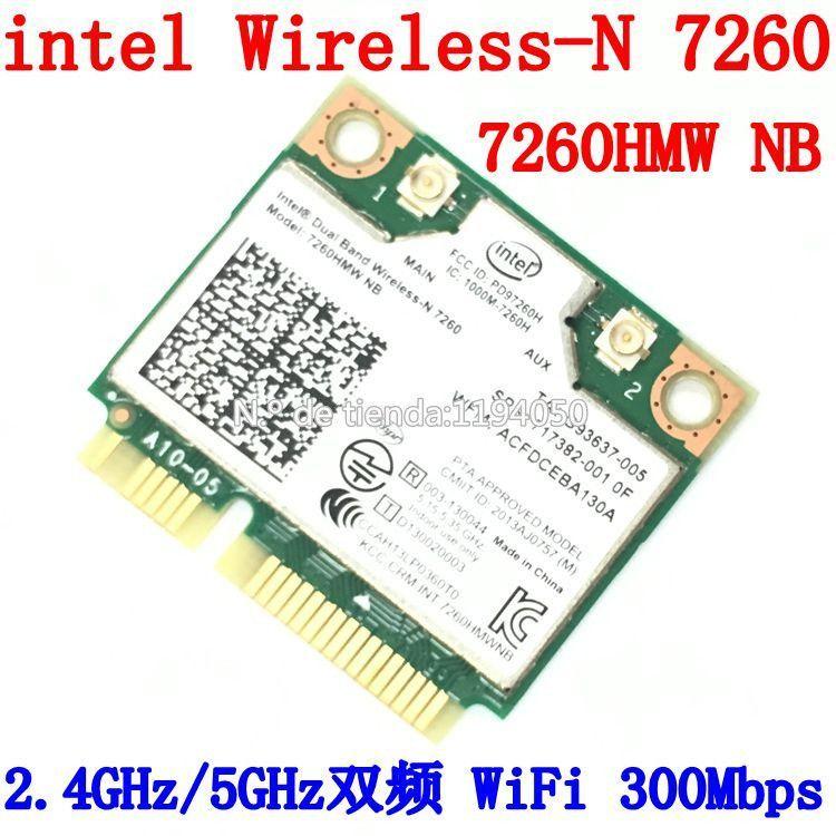 intel Dual Band Wireless-N 7260 7260HMW NB Half Mini PCIe PCI