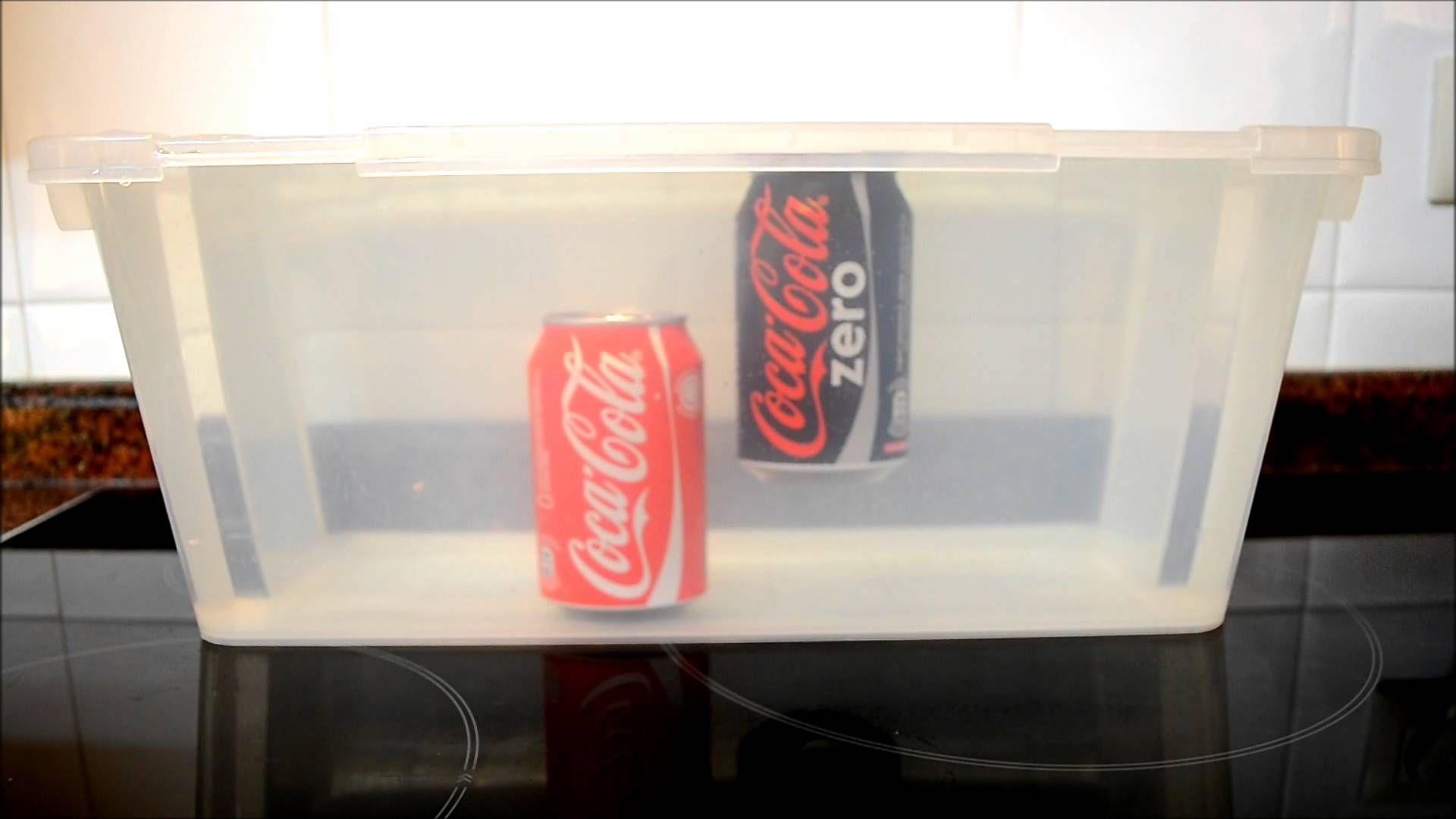 Sabías que la Coca Cola Zero flota y Coca Cola normal se hunde en agua??
