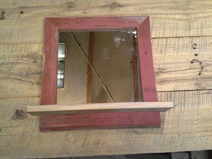 Barnwood mirror / shelf