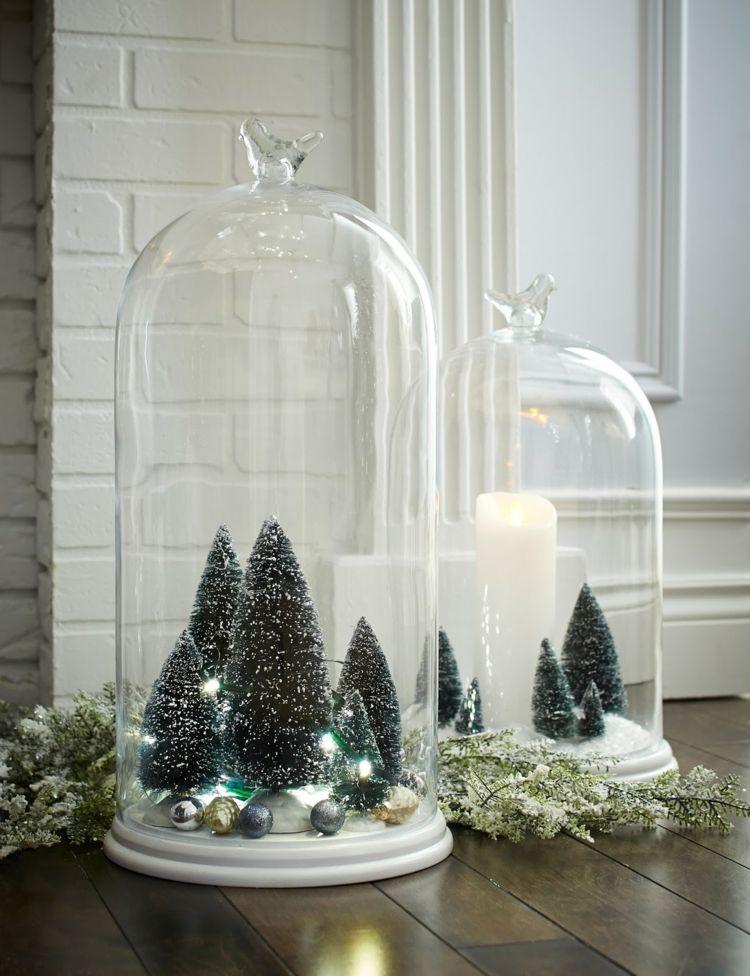 glocke aus glas weihnachtlich dekorieren tannenb umchen. Black Bedroom Furniture Sets. Home Design Ideas