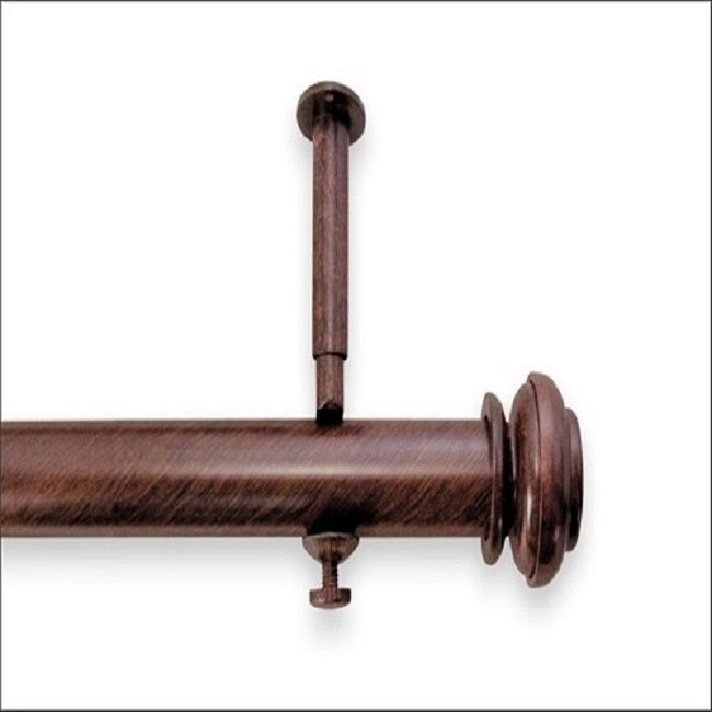 Pinnacle Bold Pole 28- to 48-inch Adjustable Curtain Rod Set