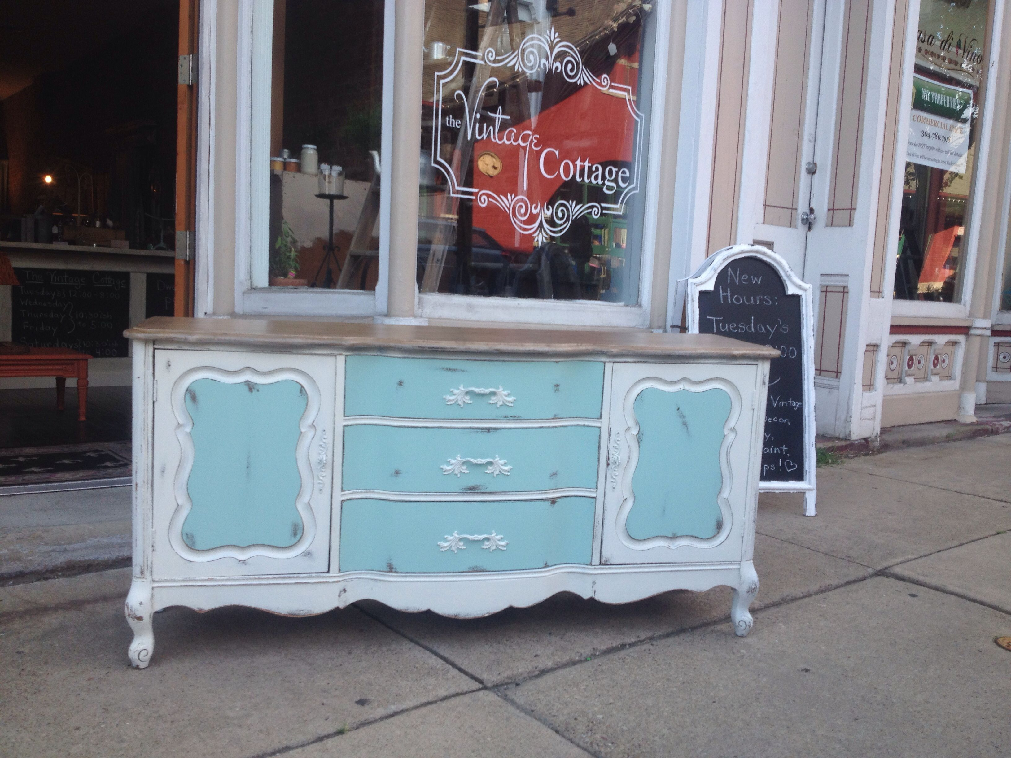 Painted with Miss Lillian\'s No Wax Chock Paint: patina and Irish ...