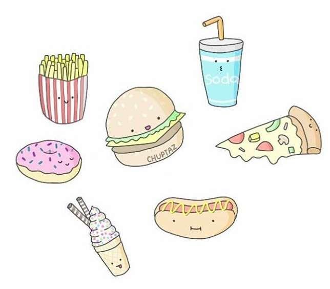 Днем, прикольные рисунки карандашом для срисовки легкие еда