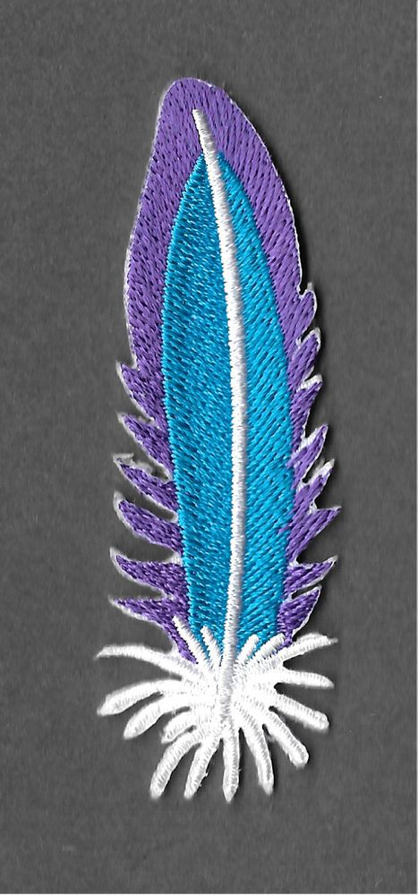 Feather - Southwestern - Native - Craft - Fully Embroidered Iron On Patch #Unbranded