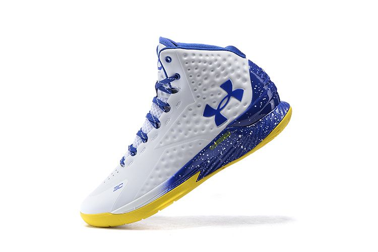 2e04636834b2 Newest And Cheapest Under Armour UA Youth Curry One 1 Home Away White Royal  Blue Gold