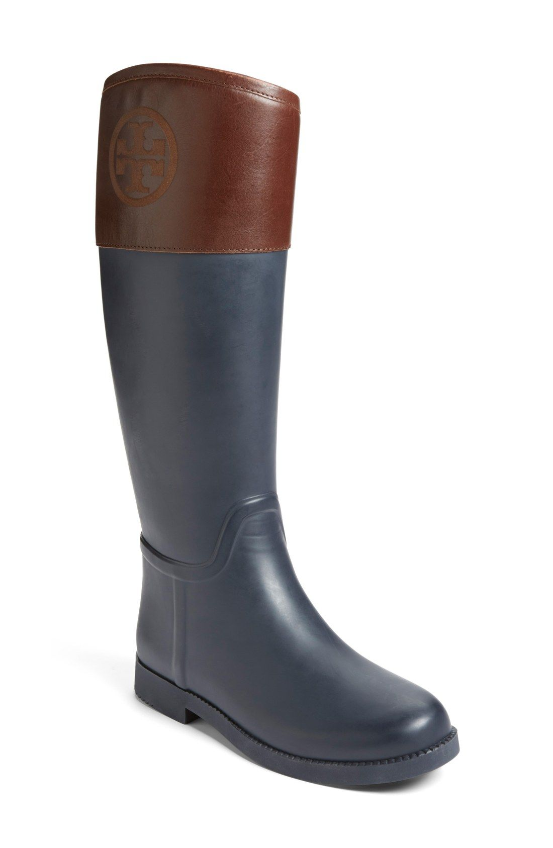 d2228f657535 This Tory Burch waterproof rain boot lends a classic equestrian style