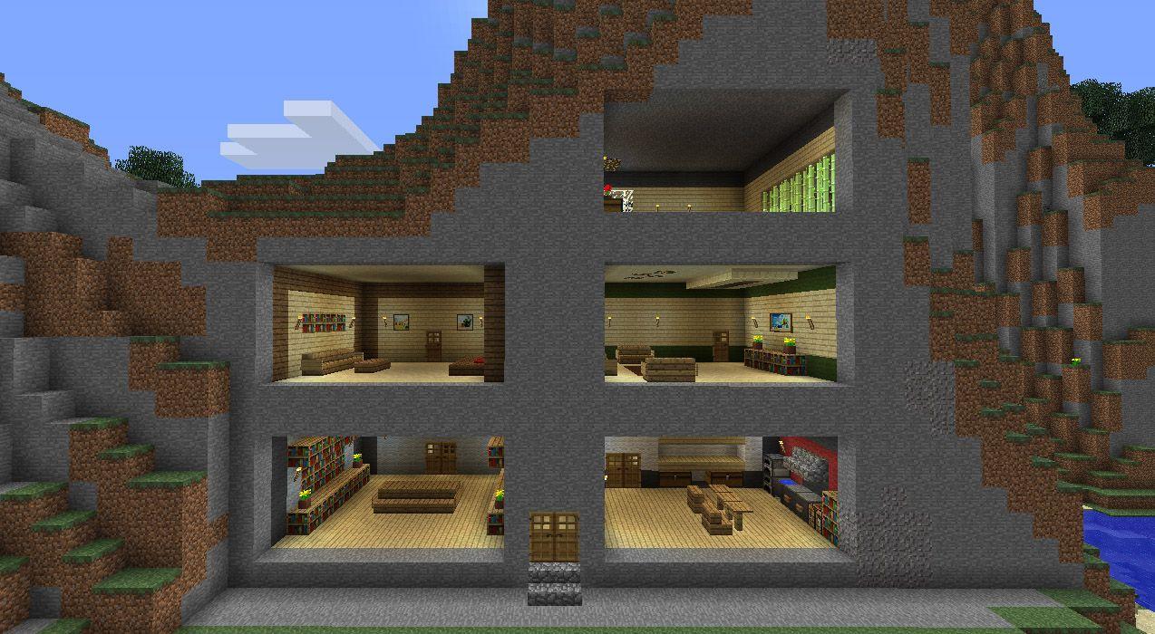 Voici Quelques Exemples De Decoration Interieures 5 Pieces Pour 5 Styles Differents On Joue Modern Minecraft Houses Minecraft Houses Minecraft Architecture