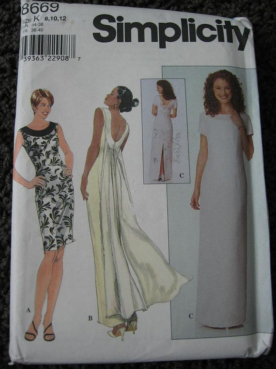 simplicity misses womens sheath dress gown sewing pattern