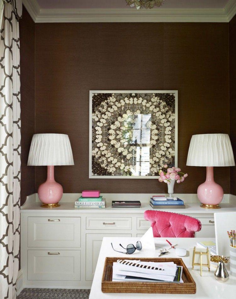 Ideen zur inneneinrichtung farben bilder  farbe braun kombinieren innendesign weiß rosa #brown #interior ...