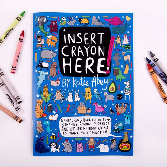 Alternative Colouring Book - Insert Crayon Here - A4 Adult Colouring ...