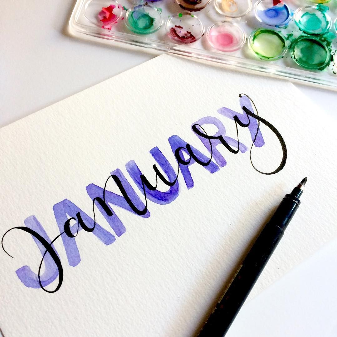 // J A N U A R Y // Sleep ins. Reading books to our daughter. Painting a friends house. Packing away Christmas. Planning a kitchen reno. This is how we spent our New Year's Day and it was Keep the good times coming January! . . How did you kick of 2018? . .  thespringnest  calligraphy  handlettering  january2018  newyearsday  newyearnewmemories  watercolor  pantonecoloroftheyear  pantone2018  ultraviolet