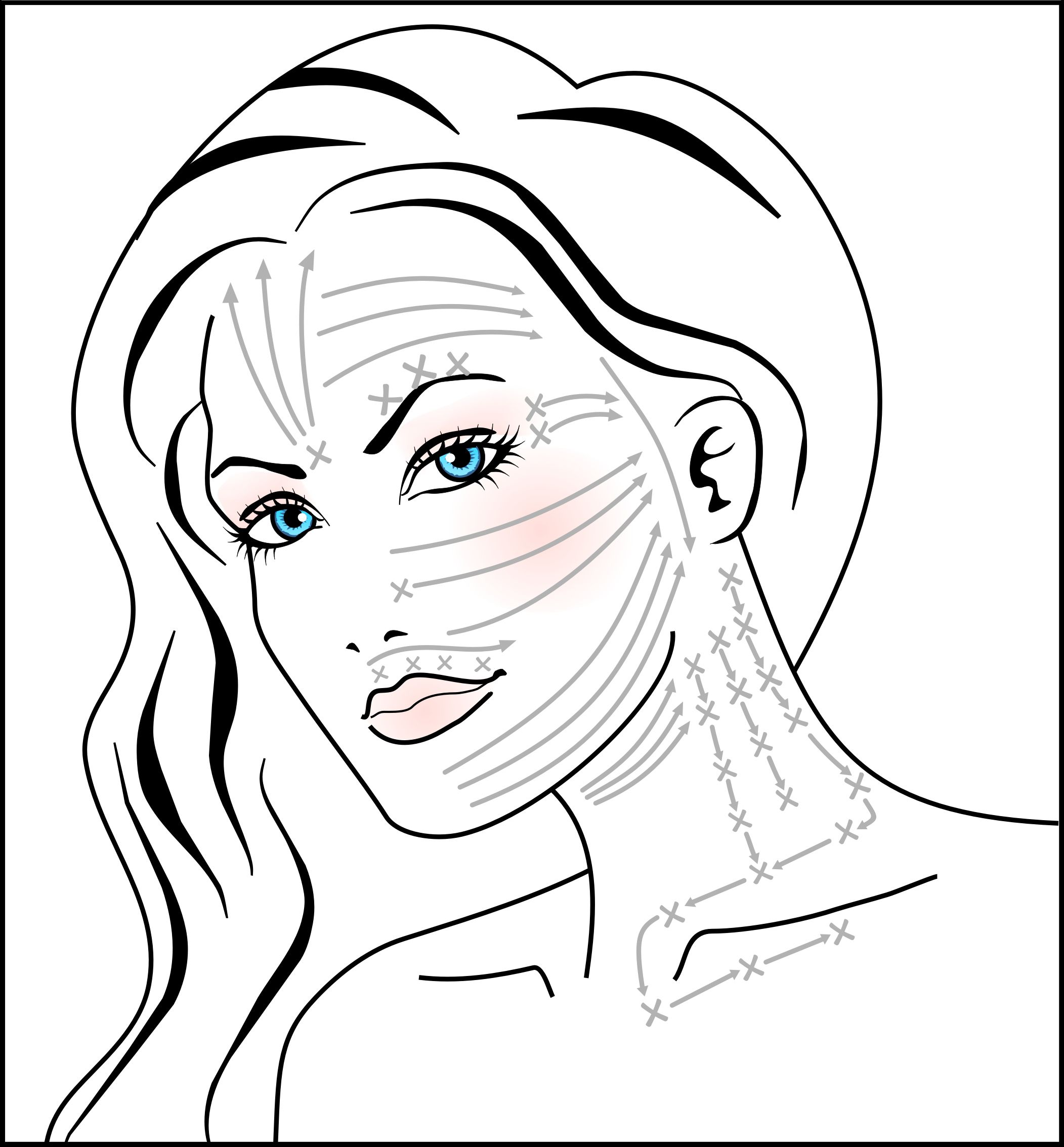Diagram On How To Do The Mira Dynamic Anti Aging Facial