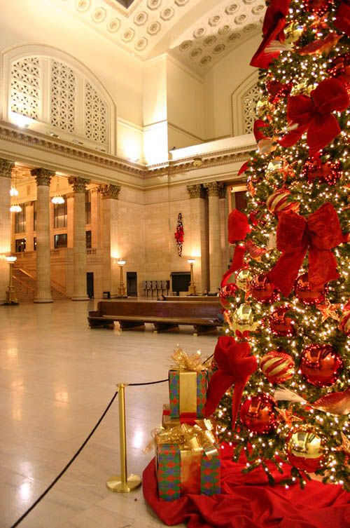 union station chicago - Chicago Christmas Station