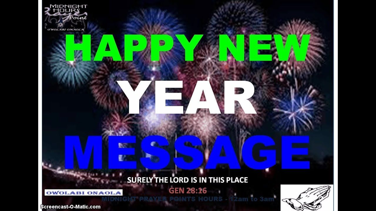 New Year 2020 Message and Prayer Owolabi Onaola in 2020