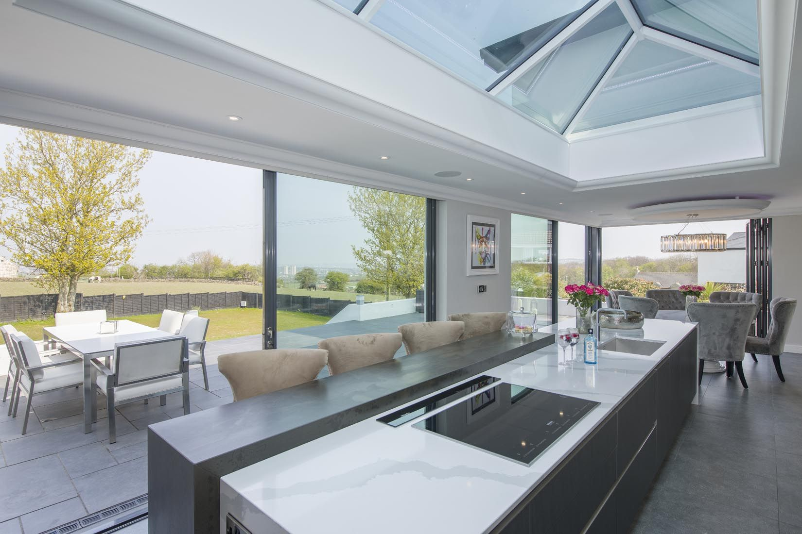 Create A Stunning Focal Point With An Oversized Island For Maximum Effect Design Your Island So It Sits Directly Kitchen Room Design Roof Lantern House Design