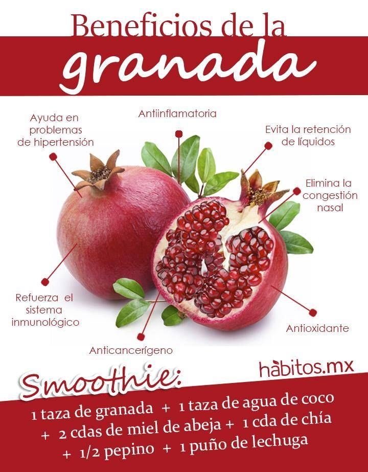 Beneficios de la granada nutrition pinterest salut - Grenade fruit comment manger ...