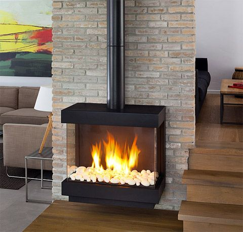 Stand Alone 75 Ts Ortal Usa Modern Fireplace Freestanding
