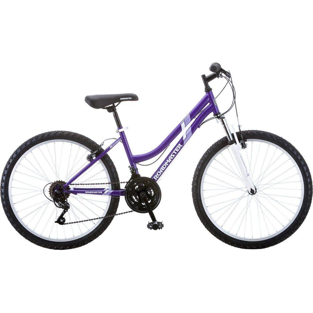 "Mountain Bike 24/"" Roadmaster Granite Peak Purple Bicycle Cycling For Girls Women"