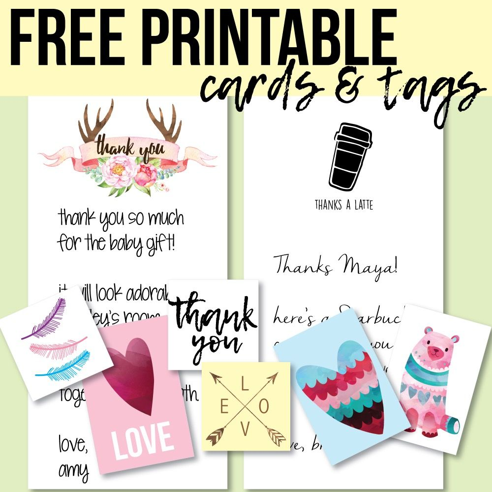 photo relating to Free Printable Baby Shower Tags referred to as Cost-free Printable Tags And Thank On your own Playing cards - Print It Boy or girl