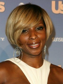 Mary J Blige S Short Bob Haircut Stuff To Try In 2019