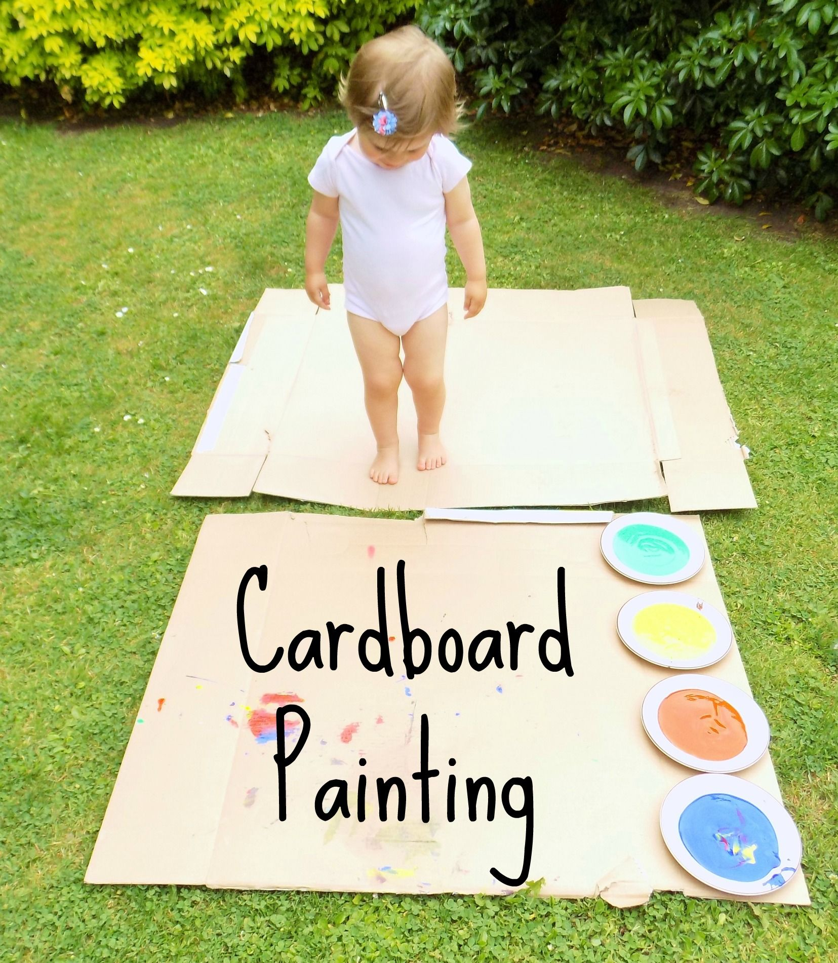Outdoor Cardboard Painting! | Painting activities, Cardboard boxes ...