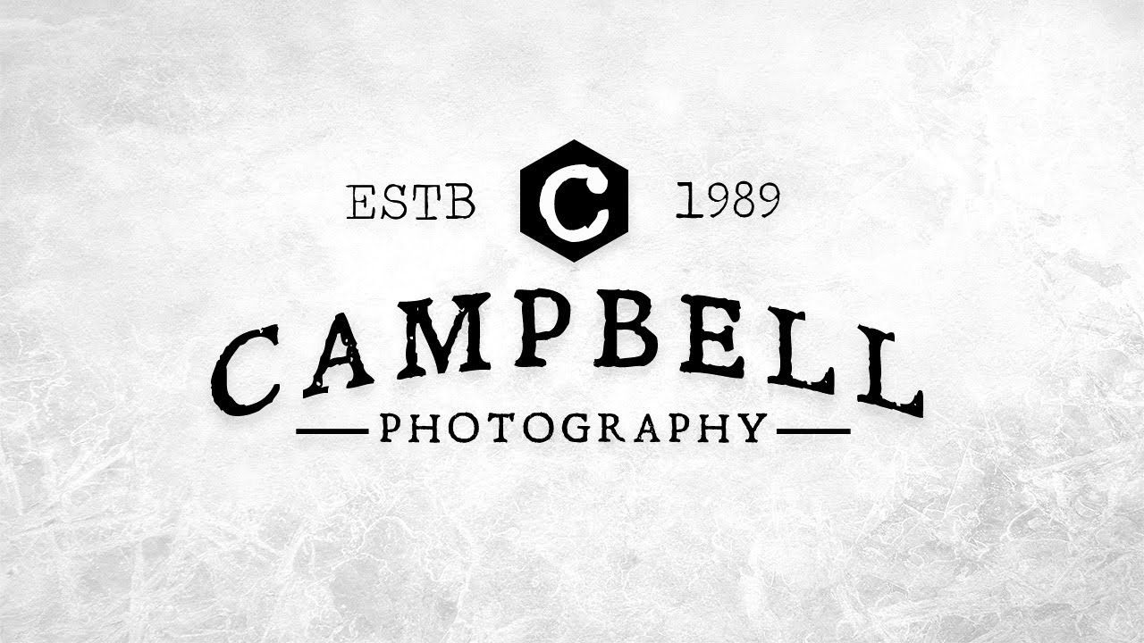 Photoshop Minimalist Logo Photography Watermark Logo