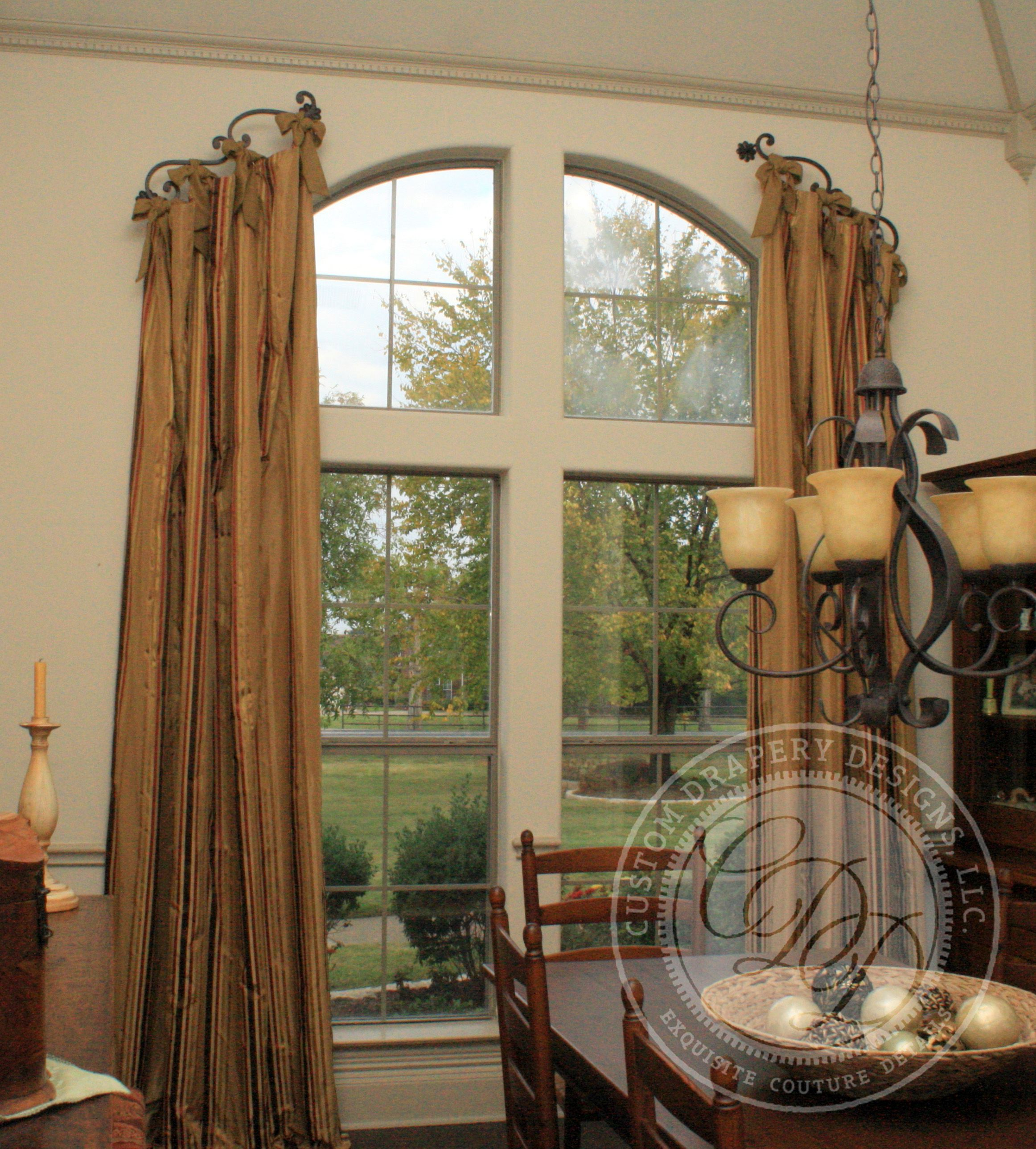 Custom Drapery Designs, LLC. - Drapery Silk stripe drapery featuring ...