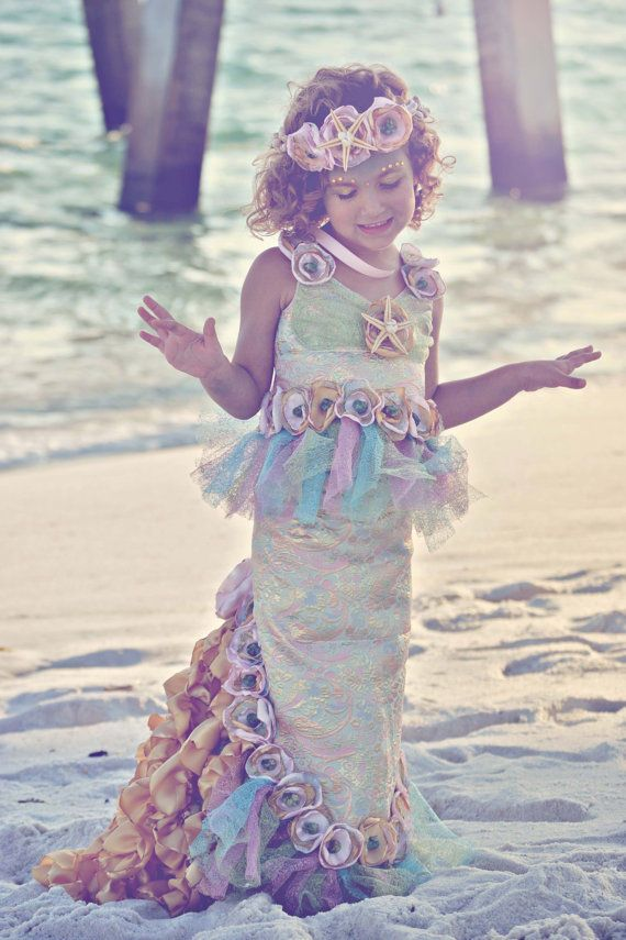 The Kids Mermaid Halloween Costume Makes Girls Feel Gorgeous trendhunter.com  sc 1 st  Pinterest & Ethereal Mermaid Kids Costumes | Mermaid halloween costumes ...