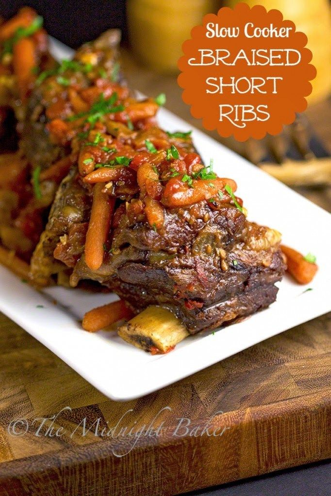 Photo of Slow Cooker Braised Short Ribs – The Midnight Baker