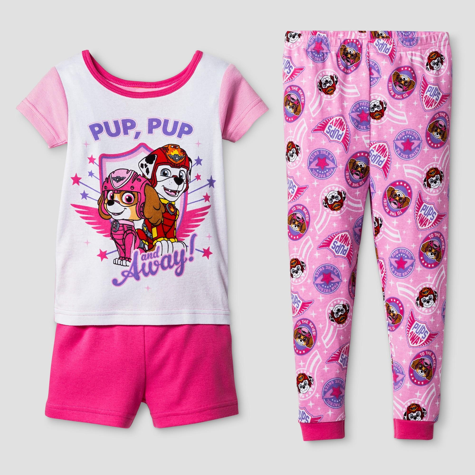 Toddler Girls  Paw Patrol 3pc Pajama Set - Pink 2T  79718d2fc
