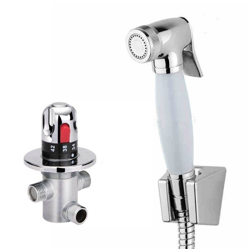 Portable Toilet Hand Bidet Spray With Thermostatic Water Mixing ...