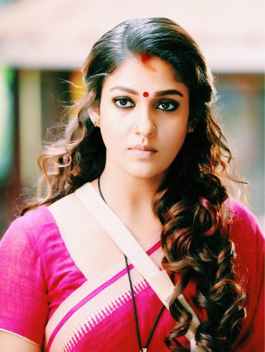 actress nayanthara latest saree stills at vasuki movie actress