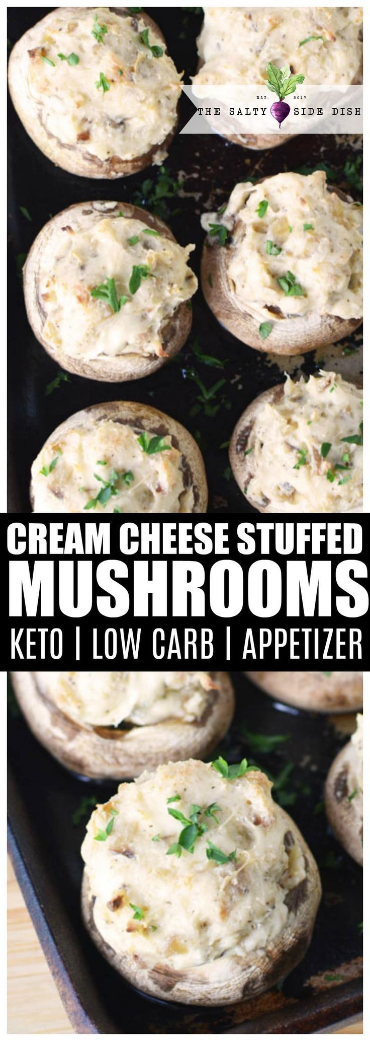 Stuffed Mushrooms with Cream Cheese (KETO, Low Carb) -