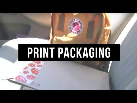 Video #4! Packaging prints for Etsy, Library haul, and a walk! - YouTube