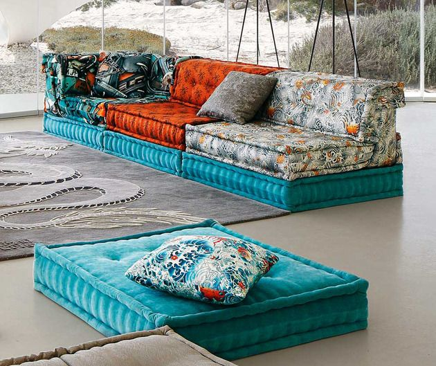 Roche Bobois Mah Jong Sofa In Jean Paul Gaultier Designed Upholstery Home Decor Sofa Upholstery Furniture