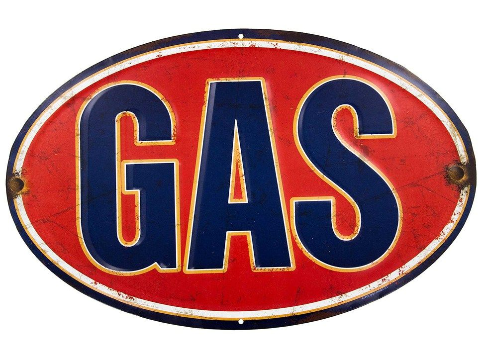 Gas Embossed Tin Sign Shop Hobby Lobby Old gas