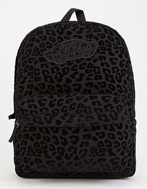 VANS Realm Leopard Flocked Backpack Black  cae25d086f6e0