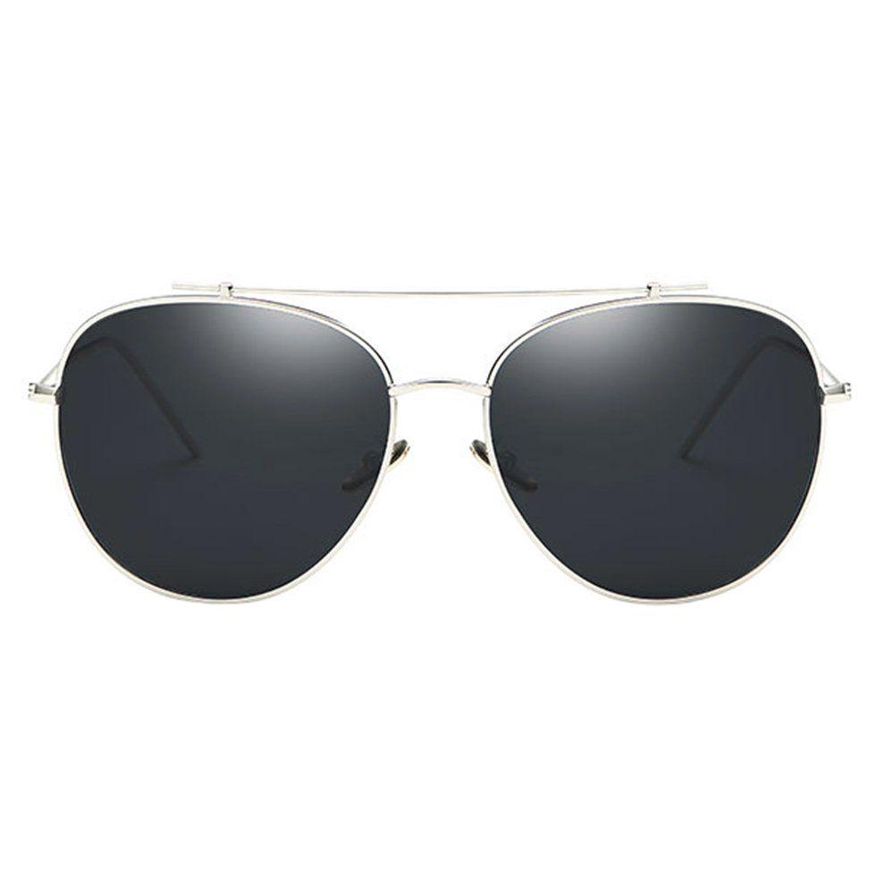 98f05ee4e611 BVAGSS Unisex Aviator Reflective Mirror Lens Sunglasses WS037 Silver Frame  Black Lens    More info