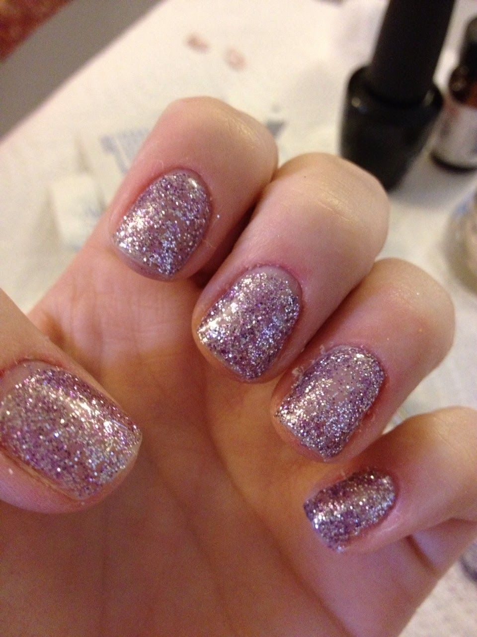 Axxium Gel nails and Martha Stewart Glitter. | Nails | Pinterest