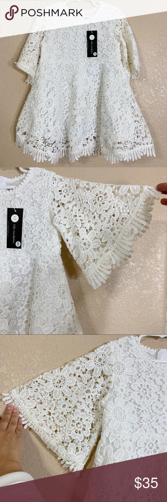 Little Trendsetters White Bohemian Love Dress 5t White Bohemian Trend Setter Dresses [ 1740 x 580 Pixel ]