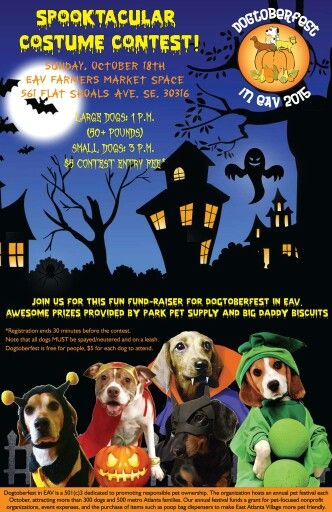Poster Created For The 3rd Annual Dogtoberfest Event In East