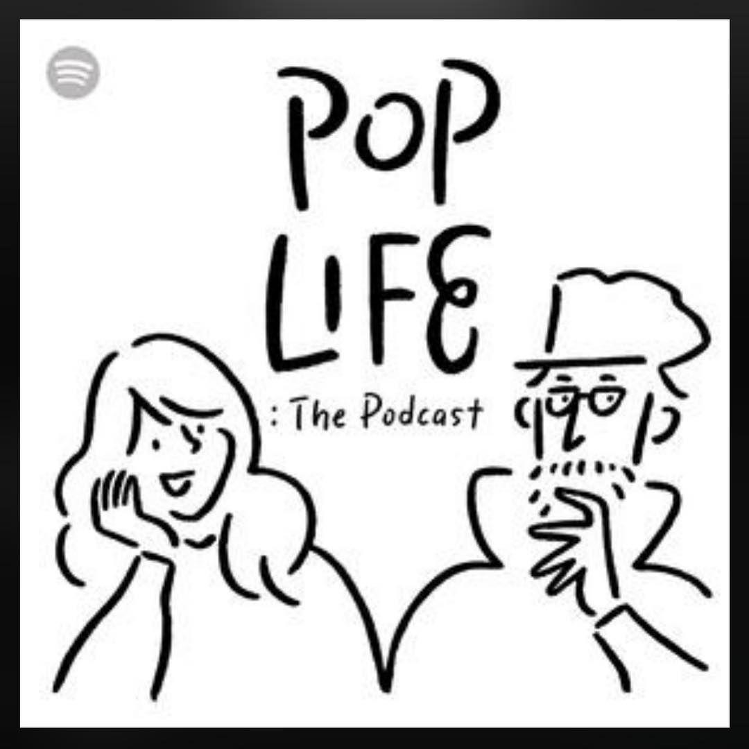 yu nagaba on instagram 今日からspotifyで始まった田中宗一郎さんと三原勇希ちゃんのトーク番組 pop life the podcast のカバーアートを描きました 第1回目のゲストは宇野維正さんと柴那典さんです podcasts okay gesture peace gesture